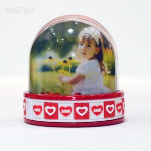 Glob Cu Led Si Inimioare Personalizat Cu Fotografii
