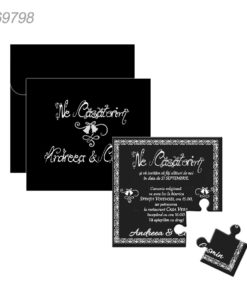Invitatie Puzzle Color