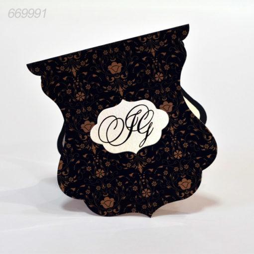 Invitatii Nunta Vintage Nuanta Neagra
