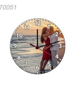 Ceas De Perete Rotund Personalizat, Diametru 30 cm