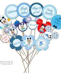 Set de props-uri pentru Candy Bar, tematica Mickey Mouse, 15 buc/set
