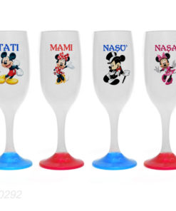 Pahare botez tematica Mickey si Minnie Mouse