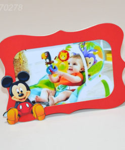 Rama foto 15cm x 10cm nuanta rosie, tematica Mickey