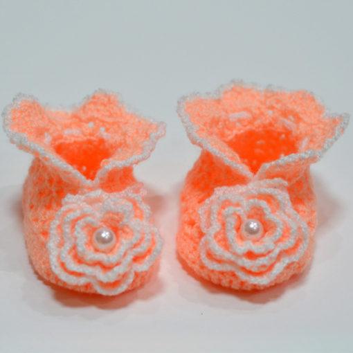 Botosei copii 0-1 ani, tricotati manual din mohair, handmade