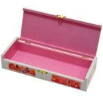 Cutie din lemn cu interior roz tematica printese