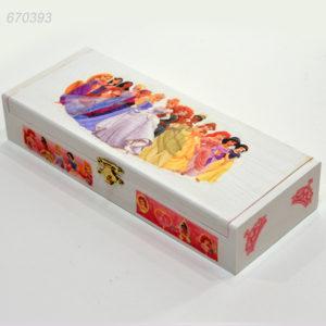 Cadouri Personalizate, cutie pentru depozitare personalizata in tematica Printese Disney, cutie cu interior roz