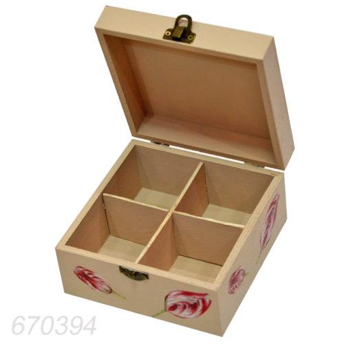 Cutie compartimentata pentru ceaiuri diferite arome