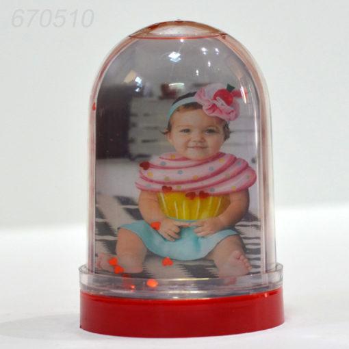 Glob gigant cu inimioare personalizat cu doua fotografii