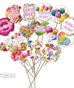 Set de props-uri pentru Candy Bar, tematica dulciuri, 15 buc/set