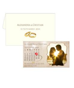 Marturie nunta magnet plastifiat cu plic inclus 9.5x5.5 cm, marturie personalizata cu fotografia dorita si textul dorit, marturii unicate, tematica vintage