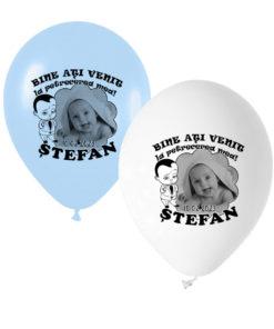 Set 12 baloane personalizate cu fotografie, tematica Baby Boss