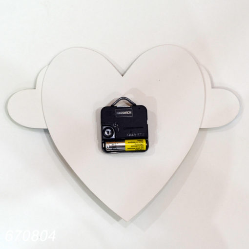 Ceas de perete forma inima
