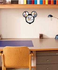 Ceas de perete forma Mickey Mouse