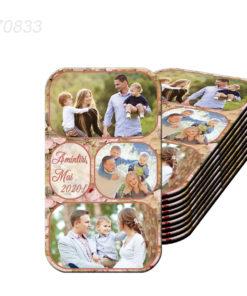 Magnet plastifiat personalizat cu 3 fotografii