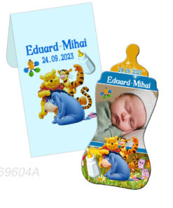 Marturii botez Winnie the Pooh magneti biberon