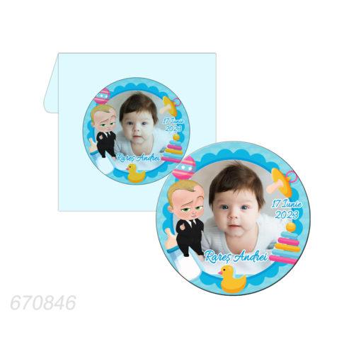 Marturie magnet forma rotunda tematica Baby Boss
