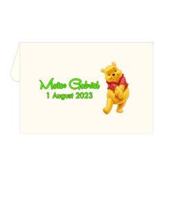 Marturii tematica Winnie the Pooh 9.5 cm x 6.5 cm