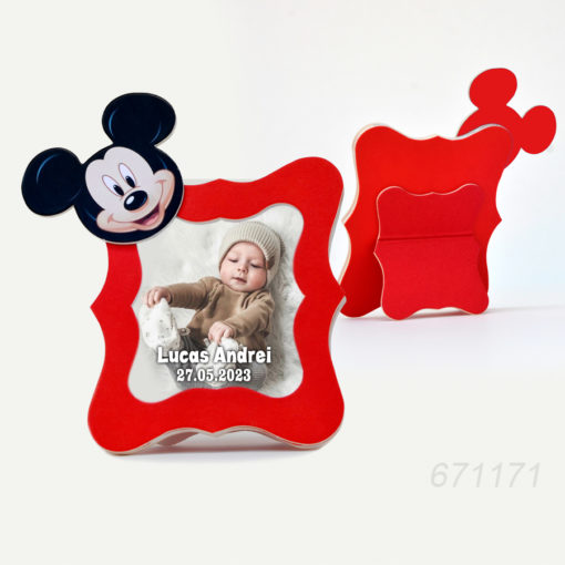 Marturii Rame Foto Mickey Mouse Nuanta Rosie